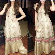 Pakistani embriodered net shirt with lehngha