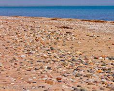 Home Decor: Michigan Art-Photography-Landscape -Lake Huron Beach Stone-11X14 Gallery Wrap Canvas  Fort Gratiot on Etsy, $49.00