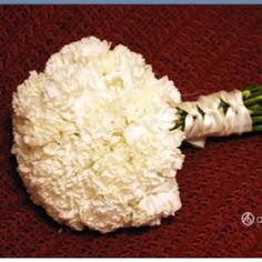 Love the all carnation bouquet.