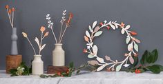 Anna Wiscombe — Wooden Christmas Wreath - £52 - www.annawiscombe.com