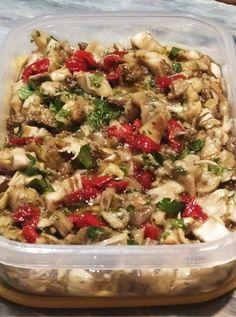 Fun Cooking, Greek Recipes, Going Vegan, Pasta Salad, Vegan Vegetarian, Potato Salad, Food And Drink, Meals, Vegetables