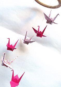 mas origami: Móvil de grullas