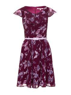 Butterfly Blossom Dress | Wine & Blush | Dresses