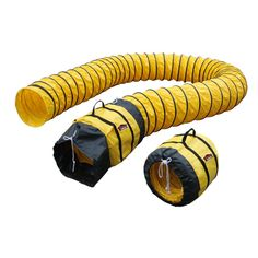 XPOWER Extra Flexible 16 in. in Dia 25 ft. Ventilation PVC Duct Hose, Yellow