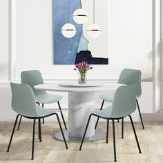 A set of 4 dining chairs has firm structure as it adopts specialized brace connection and will bear weight up to 270 lbs, making these chairs safer and long-lasting. Minimalist lines and soft curves of the backrest create flowing energy in any room. You will feel comfortable and relaxed when sitting on it. Wide and deep seat design allows people to sit on it with any postures such as cross-legs or a little bit of stretch. The chair bottom equipped with anti-slip mat can prevent slipping.