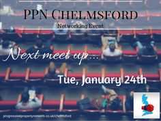 Our next meet is on January 24th. It is PPN Chelmsford's 2nd birthday too. Be there!  #networking