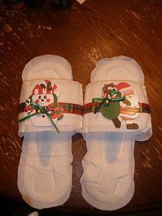 Maxi Pad slippers...white elephant or gag gift