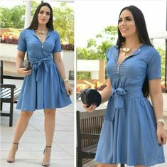Swans Style is the top online fashion store for women. Shop sexy club dresses, jeans, shoes, bodysuits, skirts and more. Demin Dress, Dress Up Jeans, African Attire, African Fashion Dresses, Infinity Dress Ways To Wear, Blouse En Jean, Short Graduation Dresses, Denim Fashion, Fashion Outfits