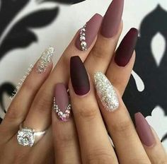 Omg love these color together #fall #glitter