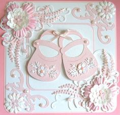 √ 28 Card for Baby Shower Baby Girl Cards, New Baby Cards, Baby Scrapbook, Scrapbook Cards, Scrapbooking, Tattered Lace Cards, Hand Made Greeting Cards, Cricut Cards, Baby Shower Cards
