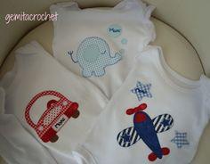 GEMITA CROCHET : Bodys para bebe, patchwork