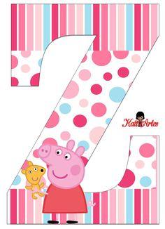 Peppa Pig Alphabet. Alfabeto de Peppa Pig con Perrito. Peppa Pig Teddy, Cumple Peppa Pig, Peppa Pig Family, Frog Princess, Birthday Themes For Boys, Pig Party, Pig Birthday, Girl Themes, Cartoon Kids