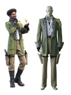 Final Fantasy XIII Sazh Katzroy Cosplay Outfits Costumes