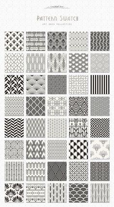 Art Deco Seamless Patterns Bundle
