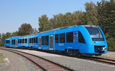Alstom's performed the first test run of the world's only fuel cell passenger train CoradiaiLint on its own test track in Salzgitter, Germany. Diesel, Fuel Cell Cars, Trains, Hydrogen Fuel, Energy News, Digital Trends, Locomotive, First World, Germany