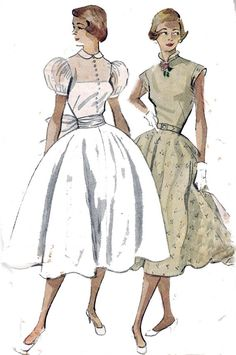 1950s Vintage Sewing Pattern Simplicity by allthepreciousthings, $24.00