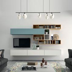 tv wand meubel met klepkast en vakken kasten eiken
