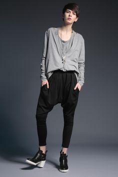 #fashion #woman #womansfashion #gray #trousers  buy on www.magdahasiak.com