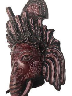 19 13 Hand Carved Wooden Side Dragon Wood Wall Art Teak Sculpture