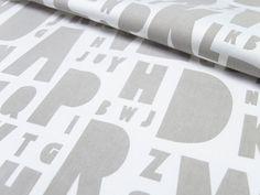 Fat Quarter - hand printed stone typography fabric