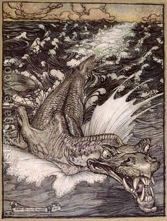 The Leviathan, 1908 by Arthur Rackham