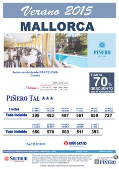 Mallorca, hasta 70% Dto.Acompañante en Hotel Piñero Tal, salidas desde Barcelona - Verano 2015 ultimo minuto - http://zocotours.com/mallorca-hasta-70-dto-acompanante-en-hotel-pinero-tal-salidas-desde-barcelona-verano-2015-ultimo-minuto/