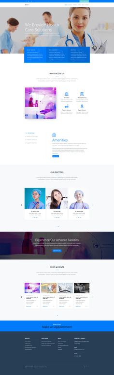 Medi+ is a free medical HTML website template, powered by Bootstrap. This template is beautiful, clean and completely free, the best choice for medical related websites. Medi+ free medical HTML is fully responsive and retina ready. Html Website Templates, Health Care, Medical, Free, Health, Active Ingredient