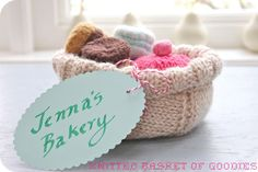helana and ali: Wrap it up Thursday - Knitted Basket of Goodies