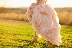 blush pink wedding dress outdoor bridal portrait- I'm in love Colored Wedding Gowns, Blush Pink Wedding Dress, Blush Pink Weddings, Perfect Wedding Dress, Dream Wedding, Summer Wedding, January Wedding, Rose Wedding, Wedding Things