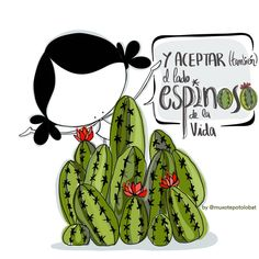 Cute Images, Funny Images, Cute Drawings, Drawing Sketches, Cactus Quotes, Monica Crema, Spanish Pictures, Best Wishes Card, Gardens