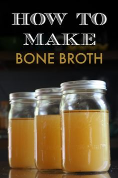 """Bone broth contains anti-aging components, """"spark plug"""" minerals you need to function, and components needed for detoxification. Great video tutorial on a quick and easy way to make it."""