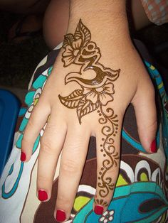 ohm henna tattoo