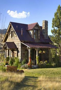 Cabins And Cottages: Country Green  Brown - Charming Cabin