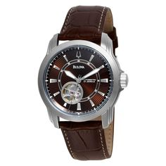$201 Bulova Mens 96A108 Automatic Mechanical Strap Brown Dial Watch: Watches: Amazon.com
