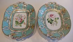 Antique C 1840 14 PC Samuel Alcock Dessert Service Burslem Staffordshire England $2750