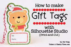Under A Cherry Tree: Silhouette Studio Tutorial: How to make Gift Tags using Print-and-Cut (written instructions)