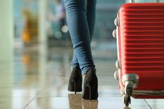 Photo about Traveler woman legs walking carrying a suitcase in an airport. Image of departure, hall, corridor - 45764622 Have A Nice Vacation, Nursing Profession, Travel Nursing, Women Legs, Reggio, Business Travel, Travel Bags, Persona, Videos