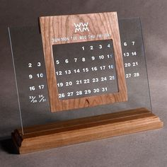 A great way to remind yourself of the relentless passage of time. Creative Calendar, Diy Calendar, Desk Calendars, Calendar Design, Calendar Templates, Printable Calendars, Blank Calendar, Calendar 2020, Free Printable