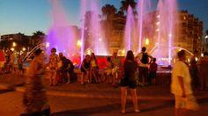 We gingen ook weleens naar het centrum van het plaatsje Salou. Hier is de mooie fontein die midden in het plaatsje staat.