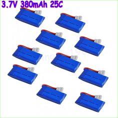 $13.98 (Buy here: https://alitems.com/g/1e8d114494ebda23ff8b16525dc3e8/?i=5&ulp=https%3A%2F%2Fwww.aliexpress.com%2Fitem%2F10pcs-lot-3-7V-380mAh-Lipo-RC-Battery-25C-For-Hubsan-X4-H107-Walkera-Super-CP%2F32655712440.html ) 10pcs/lot 3.7V 380mAh Lipo RC Battery 25C For Hubsan X4 H107 Walkera Super CP V252 JXD385 RC Quadcopter RC Toy for just $13.98