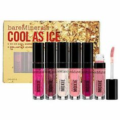 bareMinerals Cool As Ice Set by BareMinerals/Bare Escentuals. $49.95. bareMinerals Cool As Ice - Let's face it, you're the life of the party. This 6-piece collection of cool, edgy Marvelous Moxie Lipglosses will take you from one gathering to the next in shades of electric pink, sparkling opal and more. With one swipe, you'll experience the rush of lush, fuller-looking lips with a superior shine. No need to reapply - your full lips won't quit.Collection Includes:Ma...