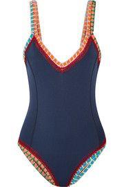 Tasmin crochet-trimmed swimsuit