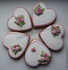 Пряничные сердечки - имбирное печенье,имбирные пряники,пряники,пряники ручной работы