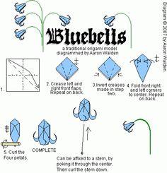 Convolvulus (campanilla silvestre) / origami, papel, papiroflexia