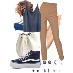 Navy Baby by mattress on Polyvore featuring polyvore, fashion, style, Hermès, Vans, Rachael Ruddick and With Love From CA
