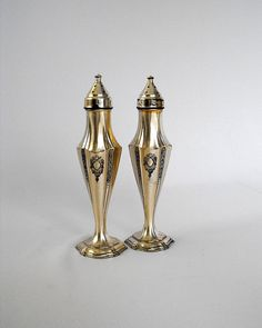 Vintage Silver Plated Salt and Pepper Shakers by ShaginyAndTil