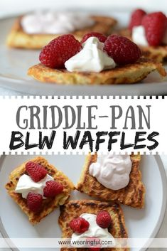 blw waffles made in a griddle pan - great finger food for picky eaters, perfect for breakfast