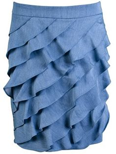 "Ruffle NY Company ""look like"" denim skirt  $37.50"