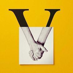 """""""V"""" by @javier_jaen  #StrengthInLetters #Goodtype"""