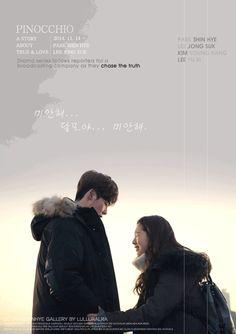 Fanart - gif animation - Pinocchio kdrama - Lee Jong Suk & Park Shin Hye